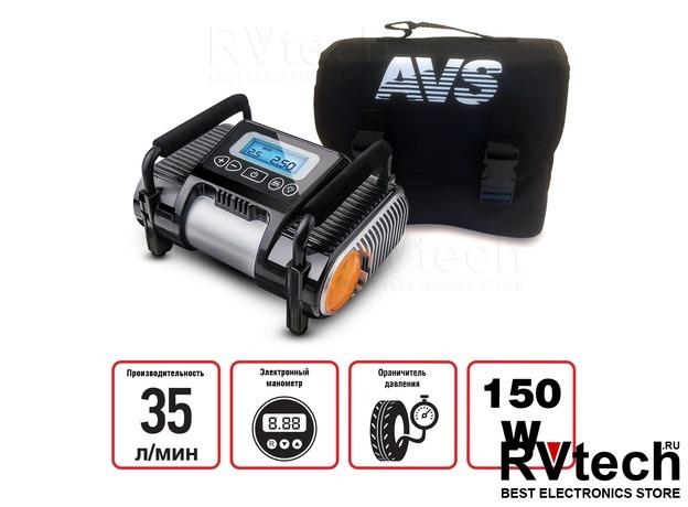 Компрессор автомобильный AVS KE350EL, Купить Компрессор автомобильный AVS KE350EL в магазине РадиоВидео.рф, Компрессоры и манометры