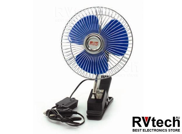 """Вентилятор автомобильный 24В 6"""" AVS Comfort 8043C (корпус: металл, серебристый), Купить Вентилятор автомобильный 24В 6"""" AVS Comfort 8043C (корпус: металл, серебристый) в магазине РадиоВидео.рф, Автоэлектроника"""