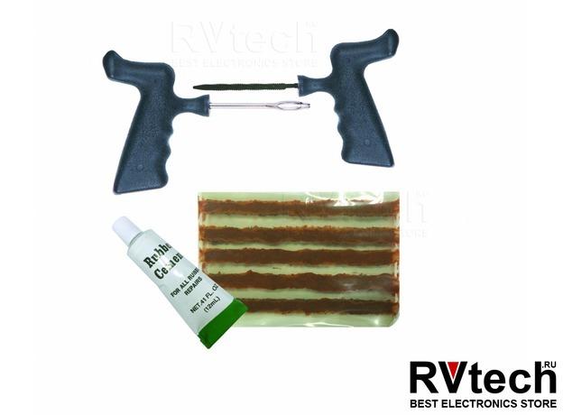 Набор для ремонта бескамерных шин (8 предм.) AVS RK-110, Купить Набор для ремонта бескамерных шин (8 предм.) AVS RK-110 в магазине РадиоВидео.рф, Аварийные принадлежности