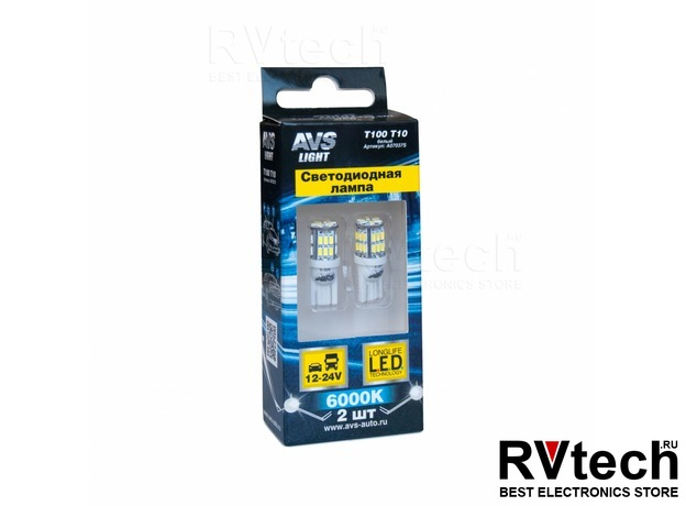 T10 T100 /белый/ (W2.1x9.5D) 30SMD 3014 9-30V W5, коробка 2 шт., Купить T10 T100 /белый/ (W2.1x9.5D) 30SMD 3014 9-30V W5, коробка 2 шт. в магазине РадиоВидео.рф, Светодиодная лампа