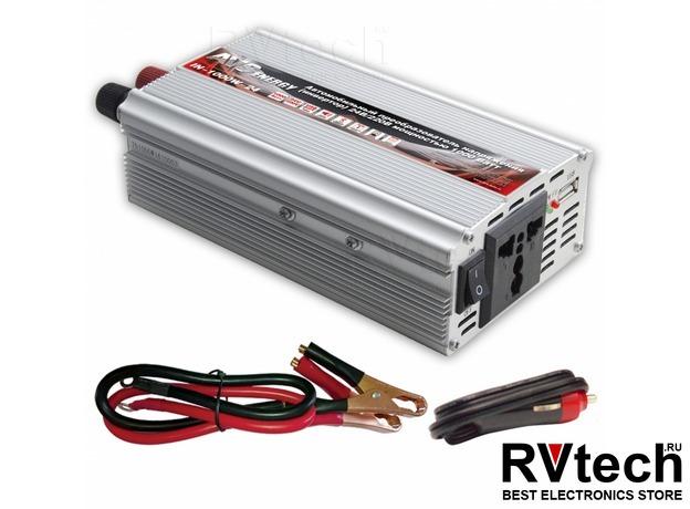 Автомобильный инвертор 24/220V AVS IN-1000W-24, Купить Автомобильный инвертор 24/220V AVS IN-1000W-24 в магазине РадиоВидео.рф, Преобразователи напряжения