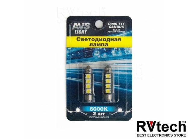 T11 C006 /белый/ (SV8,5) CANBUS 4SMD5050 42 мм 12V, Купить T11 C006 /белый/ (SV8,5) CANBUS 4SMD5050 42 мм 12V в магазине РадиоВидео.рф, Светодиодная лампа
