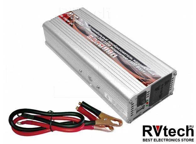 Инвертор автомобильный 24/220V AVS IN-1500W-24, Купить Инвертор автомобильный 24/220V AVS IN-1500W-24 в магазине РадиоВидео.рф, Преобразователи напряжения