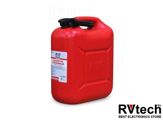 Канистра для топлива (пластик) 20л (красная) AVS TPK-20, Купить Канистра для топлива (пластик) 20л (красная) AVS TPK-20 в магазине РадиоВидео.рф, Аварийные принадлежности