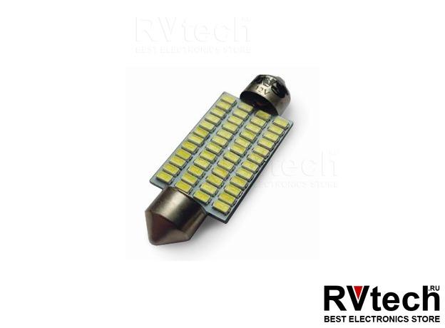 T11 SV032 /белый/(SV8,5) 48x3014 SMD 42 мм.12-24 V.,блистер 2 шт., Купить T11 SV032 /белый/(SV8,5) 48x3014 SMD 42 мм.12-24 V.,блистер 2 шт. в магазине РадиоВидео.рф, Светодиодная лампа