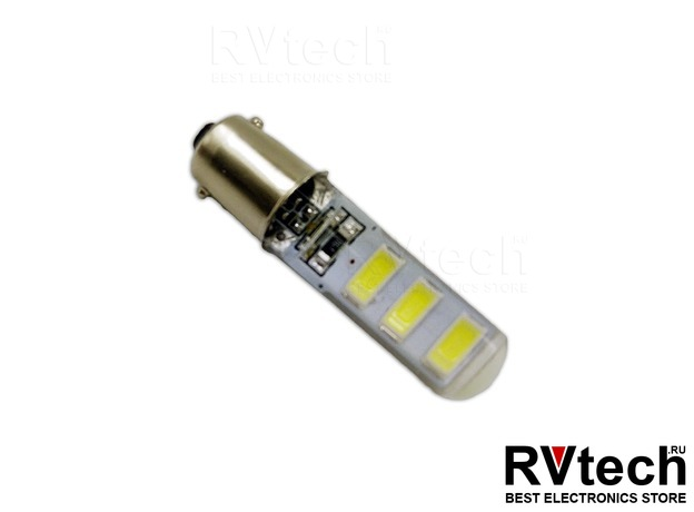 T8 B044 /белый/(BA9S) 6SMD 5730 12V, блистер 2 шт, Купить T8 B044 /белый/(BA9S) 6SMD 5730 12V, блистер 2 шт в магазине РадиоВидео.рф, Светодиодная лампа