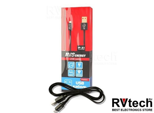 Кабель AVS для iphone 5/6/7/Х (1м) IP-X1, Купить Кабель AVS для iphone 5/6/7/Х (1м) IP-X1 в магазине РадиоВидео.рф, Автоэлектроника
