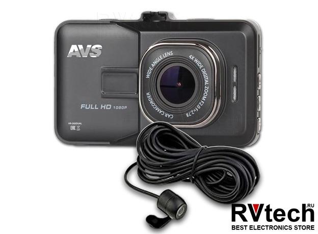 Видеорегистратор автомобильный AVS VR-202DUAL, Купить Видеорегистратор автомобильный AVS VR-202DUAL в магазине РадиоВидео.рф, Автоэлектроника