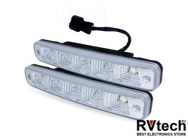 Дневные ходовые огни (DRL) AVS DL-5 (5W, 5 светодиодов х 2 шт.), Купить Дневные ходовые огни (DRL) AVS DL-5 (5W, 5 светодиодов х 2 шт.) в магазине РадиоВидео.рф, Светотехника