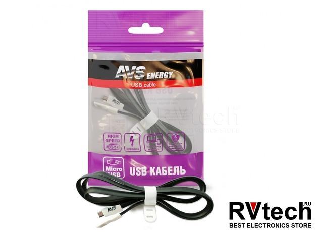 Кабель AVS micro USB (1м) MR-331, Купить Кабель AVS micro USB (1м) MR-331 в магазине РадиоВидео.рф, Автоэлектроника