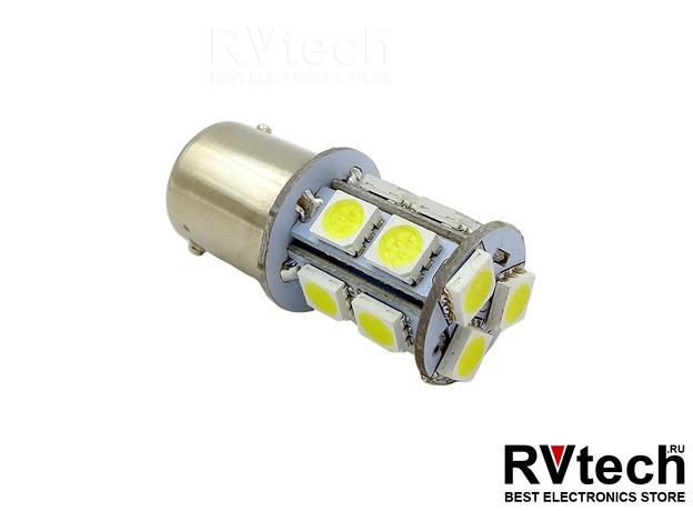 T15 S022A /белый/(BA15S) 13SMD 5050 12V 1 contact, коробка 2 шт., Купить T15 S022A /белый/(BA15S) 13SMD 5050 12V 1 contact, коробка 2 шт. в магазине РадиоВидео.рф, Светодиодная лампа