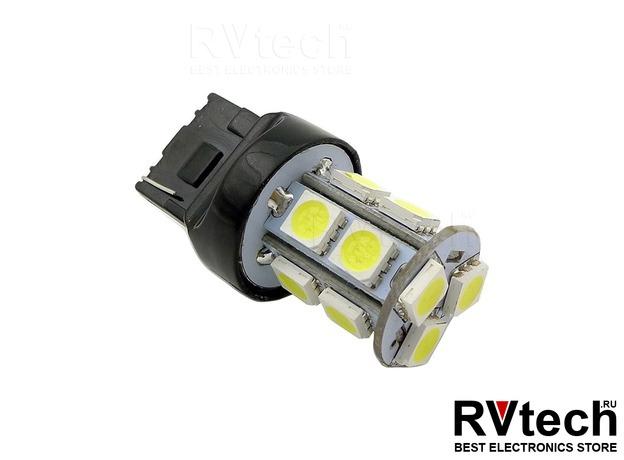 T20 T048B /красный/(W3*16D) 13SMD 5050, 2 contact, коробка 2 шт., Купить T20 T048B /красный/(W3*16D) 13SMD 5050, 2 contact, коробка 2 шт. в магазине РадиоВидео.рф, Светодиодная лампа