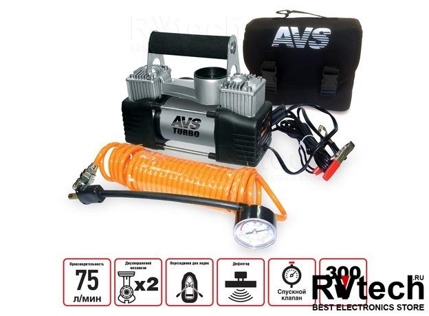 Компрессор автомобильный AVS KS750D, Купить Компрессор автомобильный AVS KS750D в магазине РадиоВидео.рф, Компрессоры и манометры