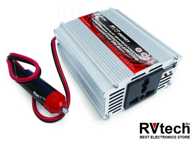 Инвертор автомобильный 12/220V AVS IN-200W, Купить Инвертор автомобильный 12/220V AVS IN-200W в магазине РадиоВидео.рф, Преобразователи напряжения