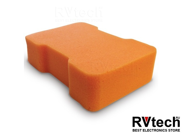Губка поролоновая AVS SP-05 (гантель) в вакуумной упаковке (170х120x55мм), Купить Губка поролоновая AVS SP-05 (гантель) в вакуумной упаковке (170х120x55мм) в магазине РадиоВидео.рф, Уход за автомобилем