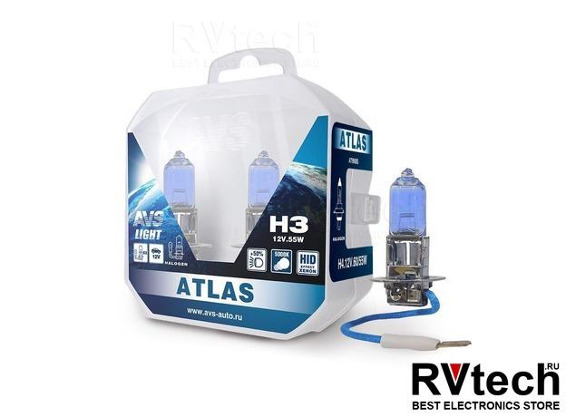 Лампа галогенная AVS ATLAS PB /5000К/ H3.12V.55W Plastic box -2 шт., Купить Лампа галогенная AVS ATLAS PB /5000К/ H3.12V.55W Plastic box -2 шт. в магазине РадиоВидео.рф, AVS ATLAS PB