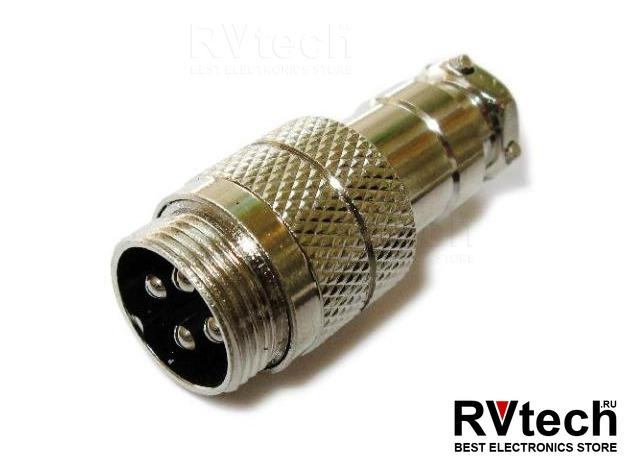 Optim разъём XLR 4-pin (male) для речевого информатора АИР-1.0-4, Купить Optim разъём XLR 4-pin (male) для речевого информатора АИР-1.0-4 в магазине РадиоВидео.рф, Optim
