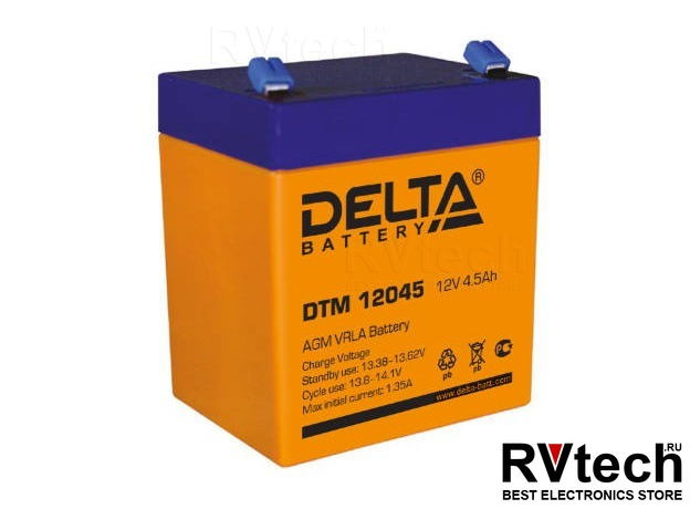 DELTA DTM 12045 - Аккумулятор для UPS. 12 V, 4,5 A, Купить DELTA DTM 12045 - Аккумулятор для UPS. 12 V, 4,5 A в магазине РадиоВидео.рф, Аккумулятор Delta DTM