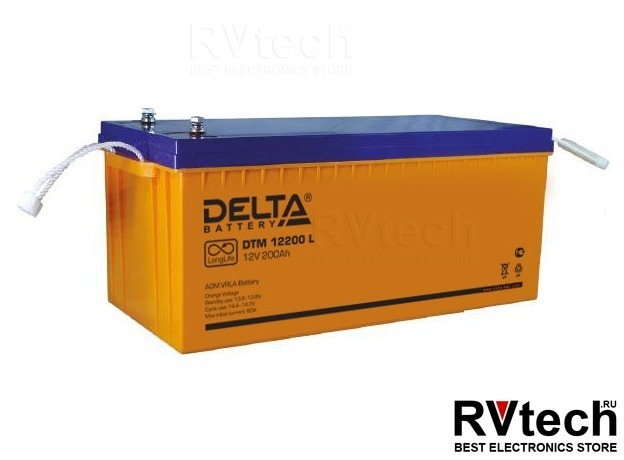 DELTA DTM 12200 L - Аккумулятор для UPS. 12 V, 200 A, Купить DELTA DTM 12200 L - Аккумулятор для UPS. 12 V, 200 A в магазине РадиоВидео.рф, Аккумулятор Delta DTM