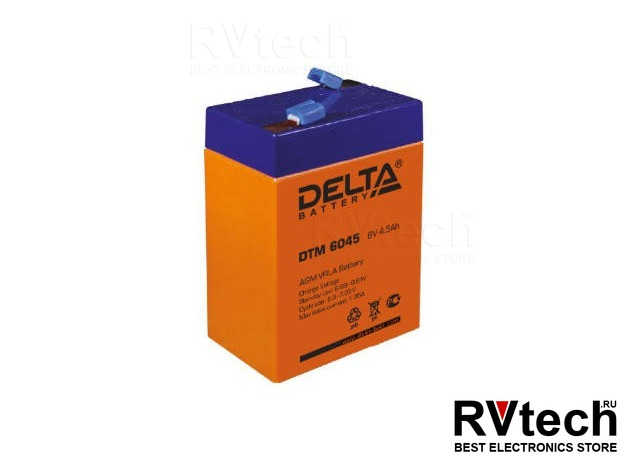 DELTA DTM 6045 - Аккумулятор для UPS. 6 V, 4,5 A, Купить DELTA DTM 6045 - Аккумулятор для UPS. 6 V, 4,5 A в магазине РадиоВидео.рф, Аккумулятор Delta DTM