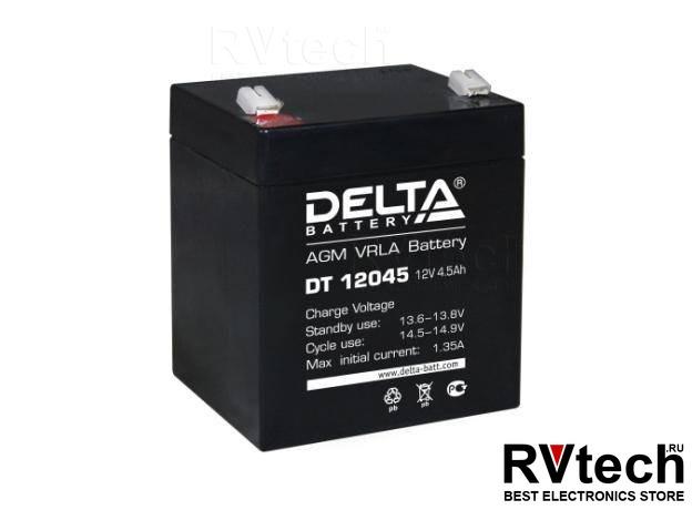 DELTA DT 12045 - Аккумулятор для UPS. 12 V, 4,5 A, Купить DELTA DT 12045 - Аккумулятор для UPS. 12 V, 4,5 A в магазине РадиоВидео.рф, Аккумулятор Delta DT