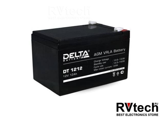 DELTA DT 1212 - Аккумулятор для UPS. 12 V, 12 A, Купить DELTA DT 1212 - Аккумулятор для UPS. 12 V, 12 A в магазине РадиоВидео.рф, Аккумулятор Delta DT