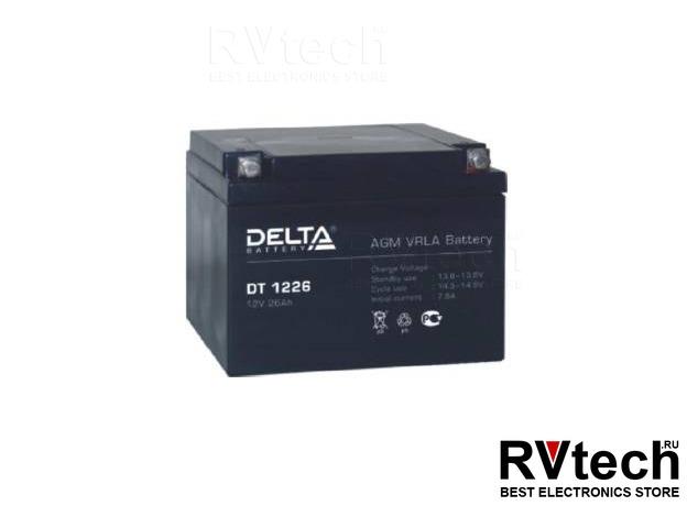 DELTA DT 1226 - Аккумулятор для UPS. 12 V, 26 A, Купить DELTA DT 1226 - Аккумулятор для UPS. 12 V, 26 A в магазине РадиоВидео.рф, Аккумулятор Delta DT