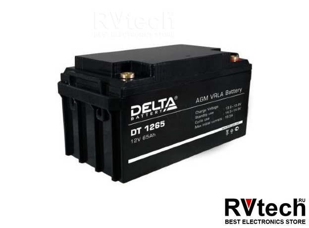 DELTA DT 1265 - Аккумулятор для UPS. 12 V, 65 A, Купить DELTA DT 1265 - Аккумулятор для UPS. 12 V, 65 A в магазине РадиоВидео.рф, Аккумулятор Delta DT