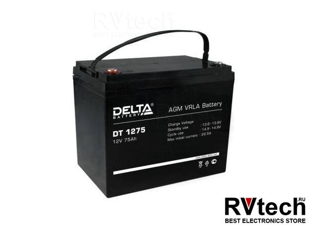 DELTA DT 1275 - Аккумулятор для UPS. 12 V, 75 A, Купить DELTA DT 1275 - Аккумулятор для UPS. 12 V, 75 A в магазине РадиоВидео.рф, Аккумулятор Delta DT