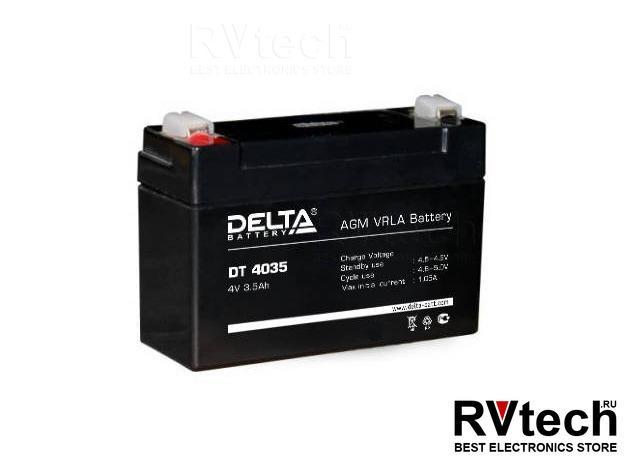 DELTA DT 4035 - Аккумулятор для UPS. 4 V, 3,5 A, Купить DELTA DT 4035 - Аккумулятор для UPS. 4 V, 3,5 A в магазине РадиоВидео.рф, Аккумулятор Delta DT