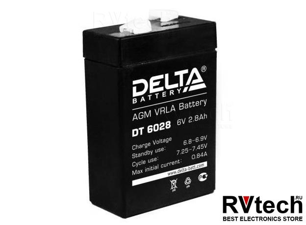 DELTA DT 6028 - Аккумулятор для UPS. 6 V, 2,8 A, Купить DELTA DT 6028 - Аккумулятор для UPS. 6 V, 2,8 A в магазине РадиоВидео.рф, Аккумулятор Delta DT