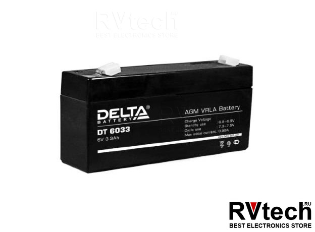 DELTA DT 6033 - Аккумулятор для UPS. 6 V, 3,3 A, Купить DELTA DT 6033 - Аккумулятор для UPS. 6 V, 3,3 A в магазине РадиоВидео.рф, Аккумулятор Delta DT