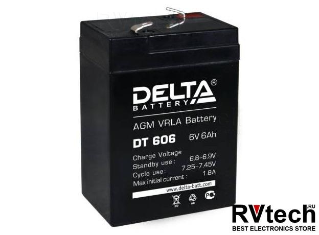 DELTA DT 606 - Аккумулятор для UPS. 6 V, 6 A, Купить DELTA DT 606 - Аккумулятор для UPS. 6 V, 6 A в магазине РадиоВидео.рф, Аккумулятор Delta DT