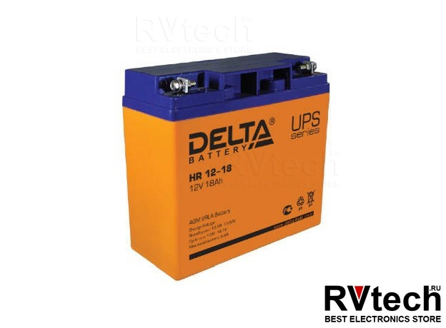 DELTA HR 12-18 - Аккумулятор для UPS. 12 V, 18 A, Купить DELTA HR 12-18 - Аккумулятор для UPS. 12 V, 18 A в магазине РадиоВидео.рф, Аккумулятор Delta HR