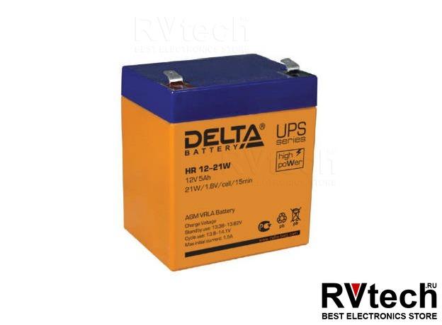 DELTA HR 12-21 W - Аккумулятор для UPS. 12 V, 5 A, Купить DELTA HR 12-21 W - Аккумулятор для UPS. 12 V, 5 A в магазине РадиоВидео.рф, Аккумулятор Delta HR