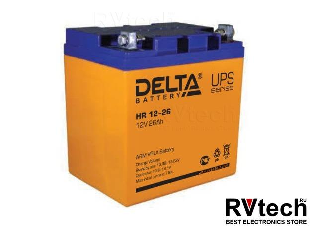 DELTA HR 12-26 - Аккумулятор для UPS. 12 V, 26 A, Купить DELTA HR 12-26 - Аккумулятор для UPS. 12 V, 26 A в магазине РадиоВидео.рф, Аккумулятор Delta HR