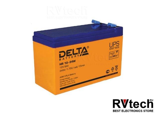 DELTA HR 12-34 W - Аккумулятор для UPS. 12 V, 9 A, Купить DELTA HR 12-34 W - Аккумулятор для UPS. 12 V, 9 A в магазине РадиоВидео.рф, Аккумулятор Delta HR