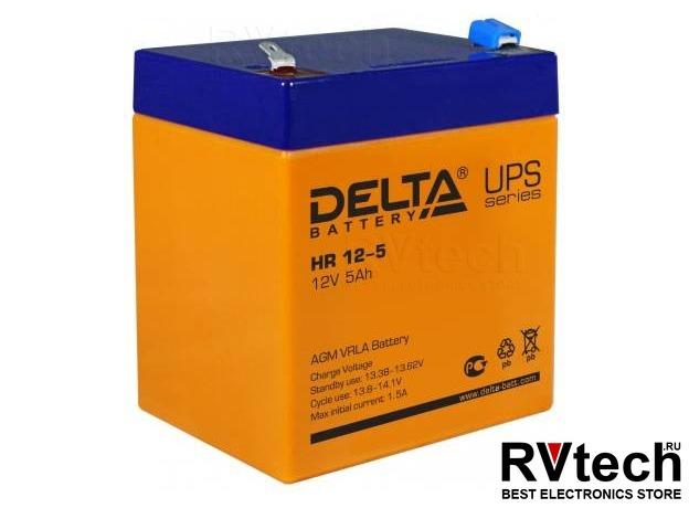 DELTA HR 12-5 - Аккумулятор для UPS. 12 V, 5 A, Купить DELTA HR 12-5 - Аккумулятор для UPS. 12 V, 5 A в магазине РадиоВидео.рф, Аккумулятор Delta HR