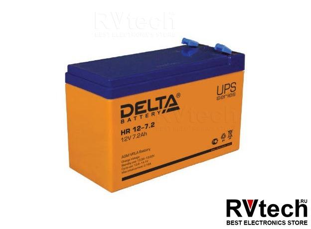 DELTA HR 12-7.2 - Аккумулятор для UPS. 12 V, 7,2 A, Купить DELTA HR 12-7.2 - Аккумулятор для UPS. 12 V, 7,2 A в магазине РадиоВидео.рф, Аккумулятор Delta HR