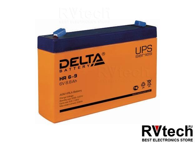 DELTA HR 6-9 - Аккумулятор для UPS. 6 V, 9 A, Купить DELTA HR 6-9 - Аккумулятор для UPS. 6 V, 9 A в магазине РадиоВидео.рф, Аккумулятор Delta HR