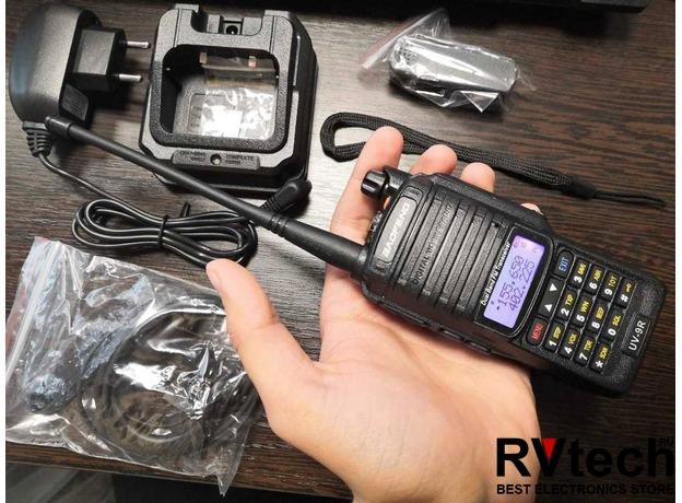 Рация Baofeng UV-9R Plus - 8W, 1800 mAh два диапазона, влагозащита IP67, Купить Рация Baofeng UV-9R Plus - 8W, 1800 mAh два диапазона, влагозащита IP67 в магазине РадиоВидео.рф, Рации Baofeng Китай