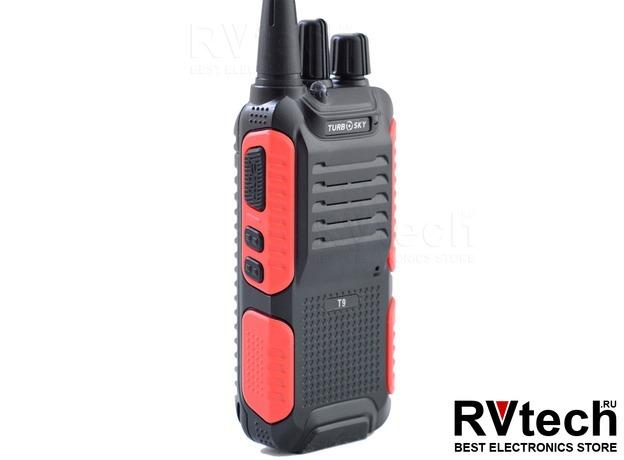 TurboSky T9 Портативная рация UHF диапазона, Купить TurboSky T9 Портативная рация UHF диапазона в магазине РадиоВидео.рф, Рации Turbosky (Россия)